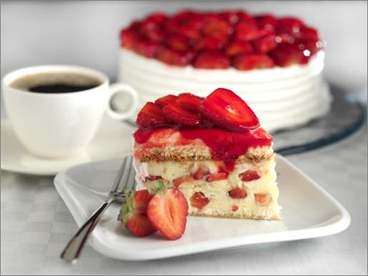 Image gâteau aux fraises