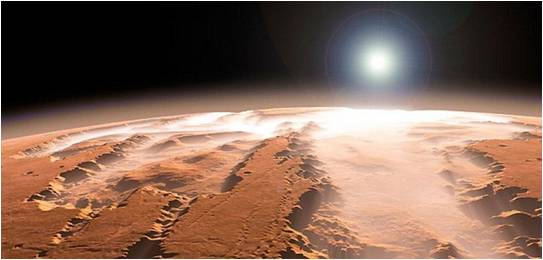 Mars : un cratère rempli de glace immortalisé par l'Agence spatiale européenne