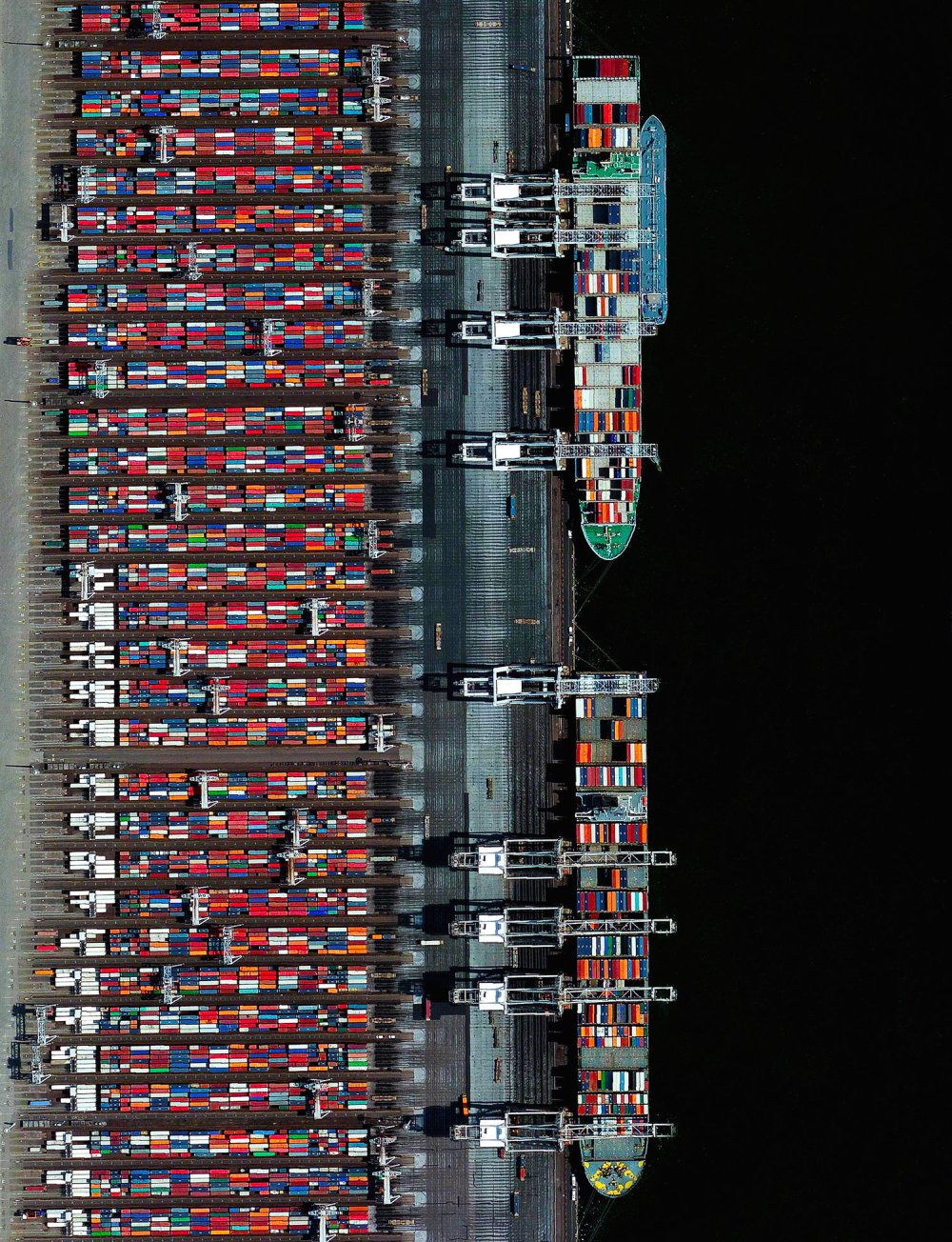 "The Port of Rotterdam — one of the first Overviews ever published on Daily Overview. Today marks our 1500th post on Instagram! I started this project because I believed the Overview perspective not only offered a means to look at our planet like never before, but was also something that could bring people together. To see where the project is now, nearly four years and 1500 posts later, has exceeded all of my wildest expectations. A sincere thank you from the bottom of my heart to everyone who has shared the images, purchased a copy of ""Overview,"" or simply followed along. Here's to the next 1500 posts! -- Benjamin Grant  51°53'06.0""N, 4°17'12.1""E  Source imagery: DigitalGlobe"